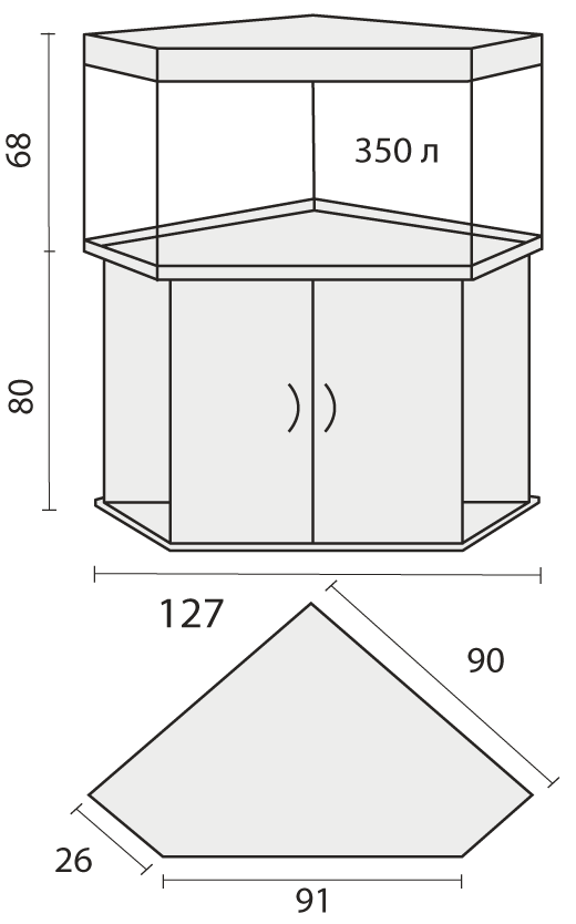 Тумба угловой схема 176